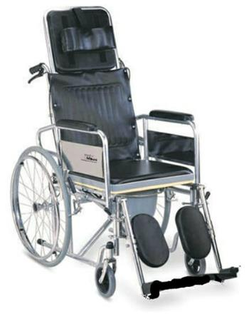 Recliner Commode Wheel chair