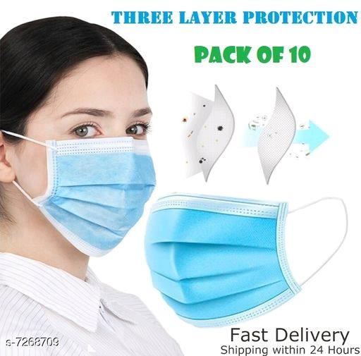 (Pack of 10) Ply Surgical Mask With Earloop By Laxuria