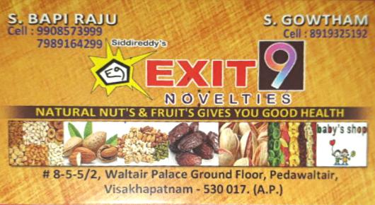 Siddireddys Exit9 Novelties Nuts Fruits Pedawaltair in Visakhapatnam Vizag,Pedawaltair In Visakhapatnam, Vizag
