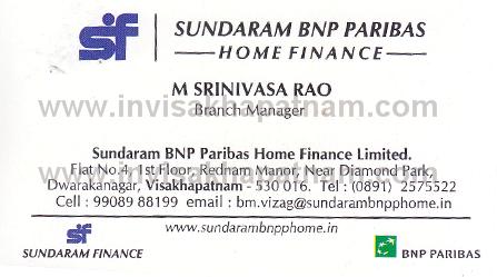 Sundaram Home FinanceDwarakanagar In Visakhapatnam Vizag
