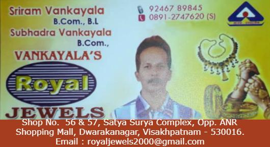 Royal JewelsShop No.  56 & 57, Satya Surya Complex, Opp. ANR 