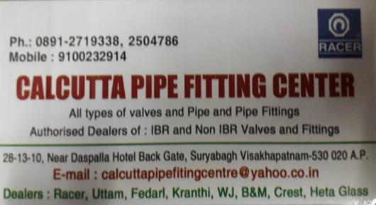 calcutta Pipe Fitting Center Suryabagh valves pipes fittings in visakhapatnam vizag,suryabagh In Visakhapatnam, Vizag