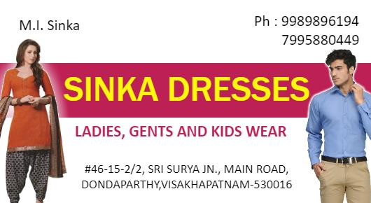 Sinka Dresses#46-15-2/2, Sri Surya Jn., Main Road,dondaparthy