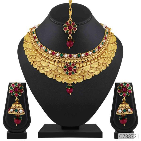 Asmitta Stunning Gold Plated Jewellery Set Sellers In Visakhapatnam, Vizag